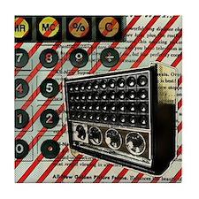 geeky retro radio Tile Coaster