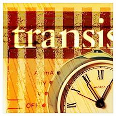 vintage scripts retro clock  Poster