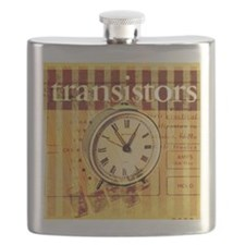 vintage scripts retro clock  Flask