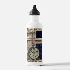 vintage scripts retro Water Bottle