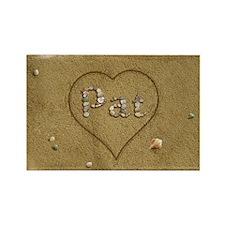 Pat Beach Love Rectangle Magnet
