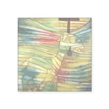 "The Lamb by Paul Klee Square Sticker 3"" x 3"""