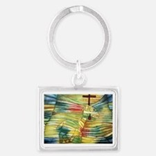 The Lamb by Paul Klee Landscape Keychain