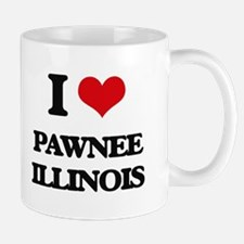 I love Pawnee Illinois Mugs