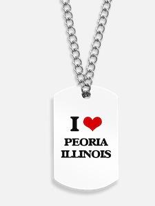 I love Peoria Illinois Dog Tags