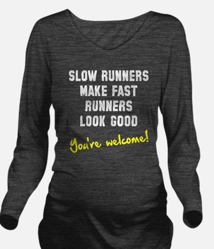 Slow runners Long Sleeve Maternity T-Shirt