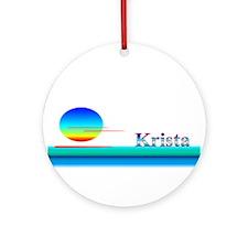 Krista Ornament (Round)