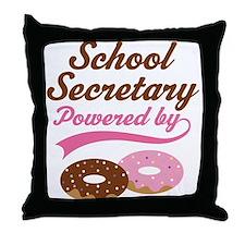 school secretary Throw Pillow
