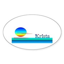 Krista Oval Decal