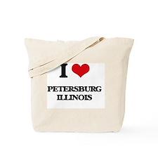 I love Petersburg Illinois Tote Bag