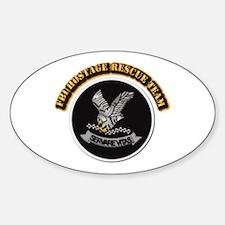 FBI HRT with Text Sticker (Oval)
