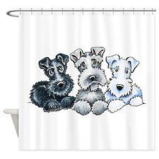Schnauzer Company Shower Curtain