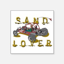 "Sand Lover Dune Buggy Square Sticker 3"" x 3"""