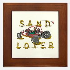 Sand Lover Dune Buggy Framed Tile