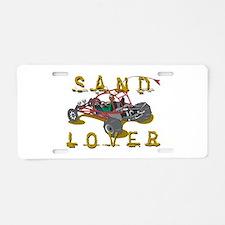 Sand Lover Dune Buggy Aluminum License Plate