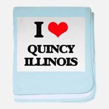 I love Quincy Illinois baby blanket