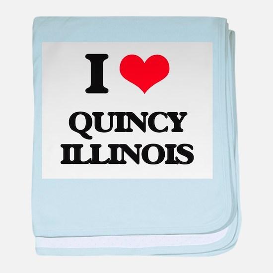 I love Quincy Illinois baby blanket