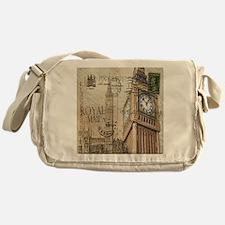 vintage london big ben Messenger Bag