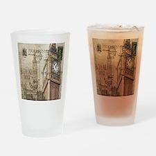vintage london big ben Drinking Glass