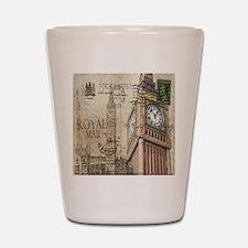 vintage london big ben Shot Glass
