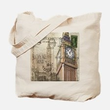 vintage london big ben Tote Bag