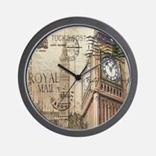 vintage london big ben Wall Clock