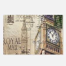 vintage london big ben Postcards (Package of 8)