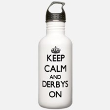Keep Calm and Derbys O Water Bottle