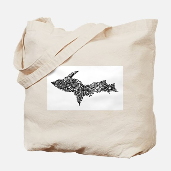 Mehndi Upper Peninsula UP by Kris Tote Bag