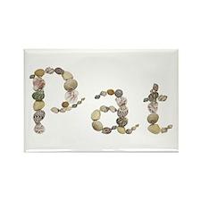 Pat Seashells Rectangle Magnet
