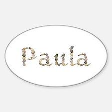Paula Seashells Oval Decal