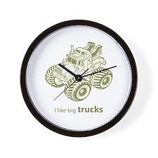 I like big trucks Wall Clock