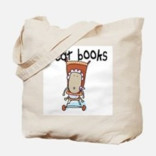 I EAT BOOKS Tote Bag