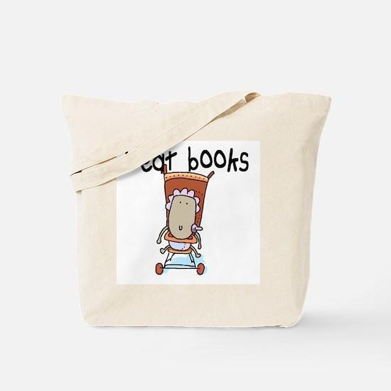 I EAT BOOKS Tote Bag