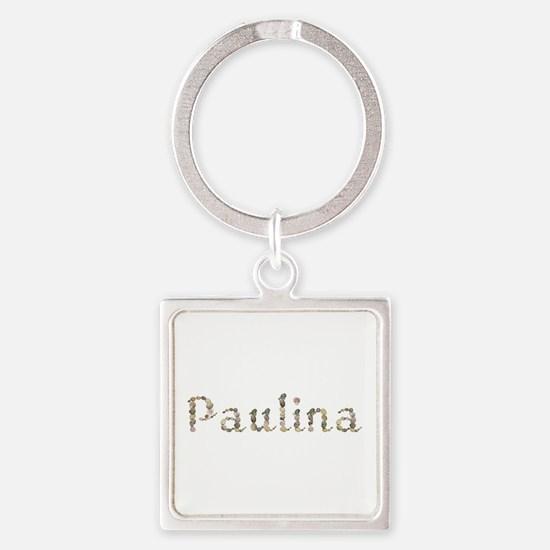 Paulina Seashells Square Keychain