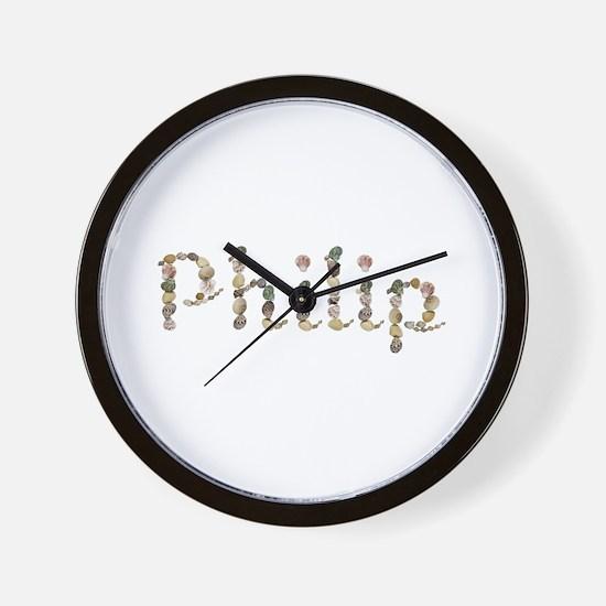 Philip Seashells Wall Clock