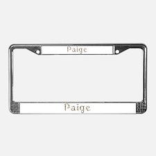 Paige Seashells License Plate Frame