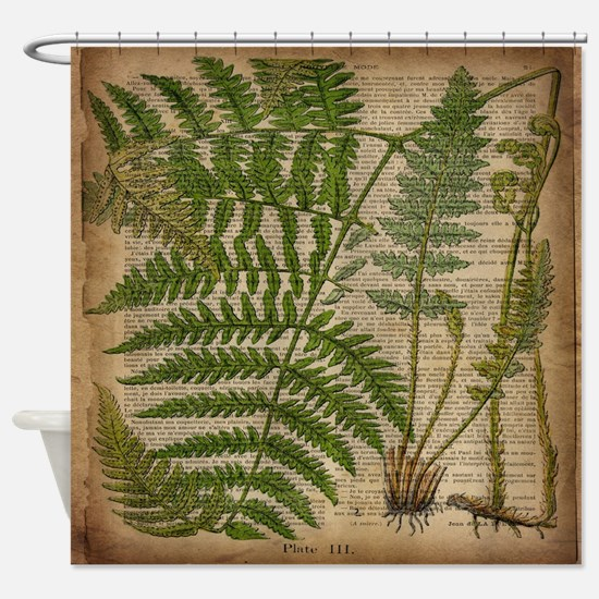botanical fern leaves Shower Curtain