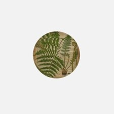 botanical fern leaves Mini Button
