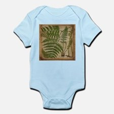 botanical fern leaves Body Suit