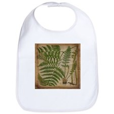 botanical fern leaves Bib