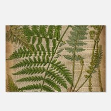 botanical fern leaves Postcards (Package of 8)