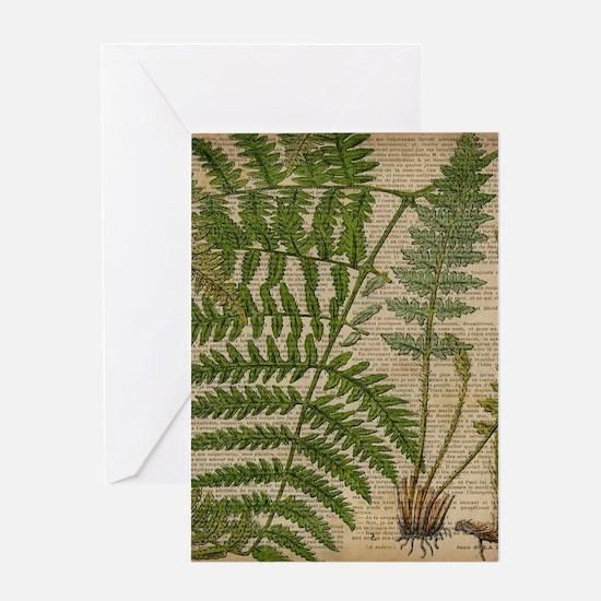 botanical fern leaves Greeting Cards