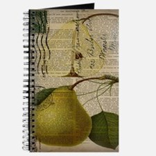 botanical vintage pear Journal