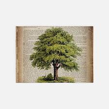 vintage oak tree 5'x7'Area Rug