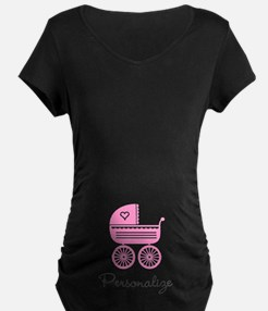 Personalized baby carriage Maternity T-Shirt