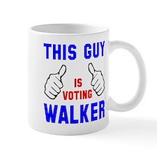 This guy girl voting Walker Mug