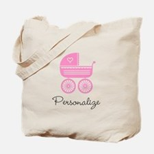 Personalized Baby Carriage Tote Bag For New Mom