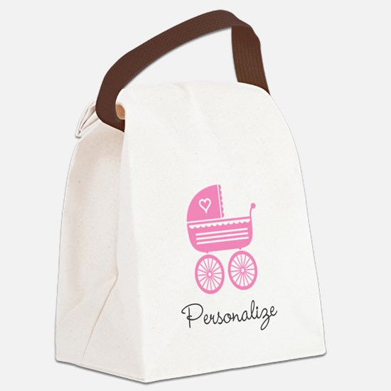 Personalized baby carriage Canvas Lunch Bag