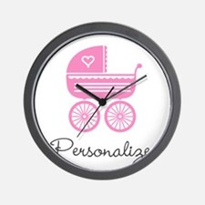 Personalized baby carriage Wall Clock